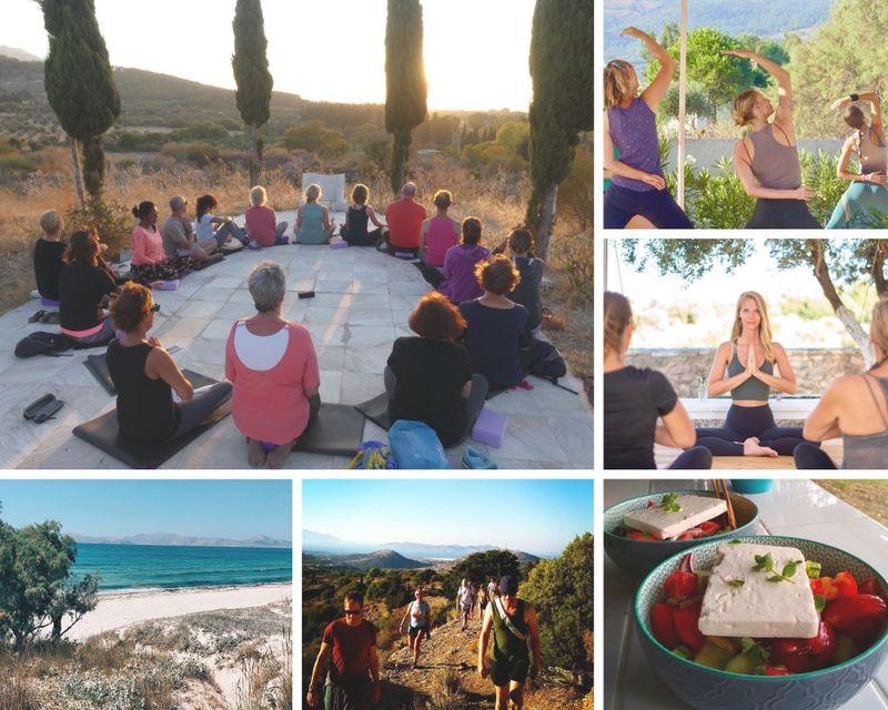 yoga and hiking holiday on kos island, greece