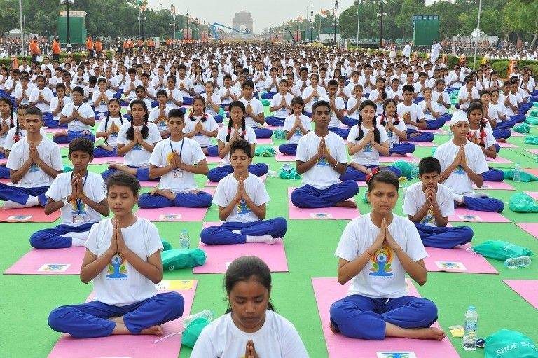 International Yoga Day Event in India