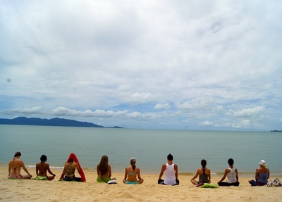 Beach Yoga Pictures Picture by It's Yoga Thailand