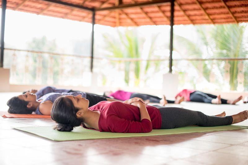 asanas in yin yoga class