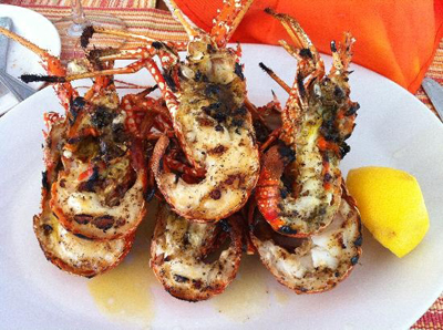 Barbados Street Food: Grilled Crayfish