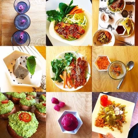plant based diet collage