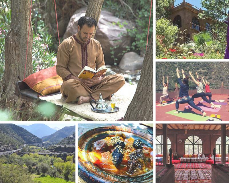 yoga retreat atlas mountains