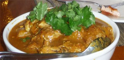 thai cooking at wildwood valley - chicken yellow curry