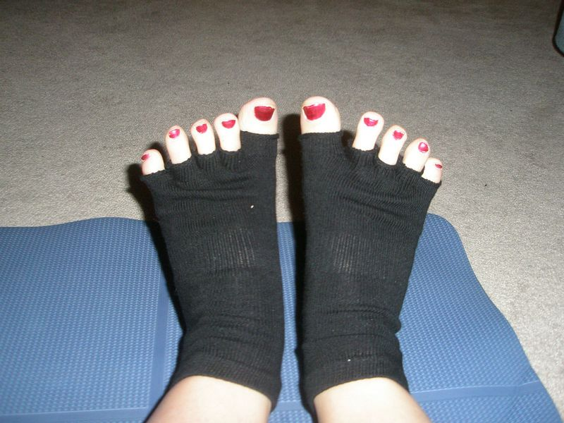 yoga socks open toe