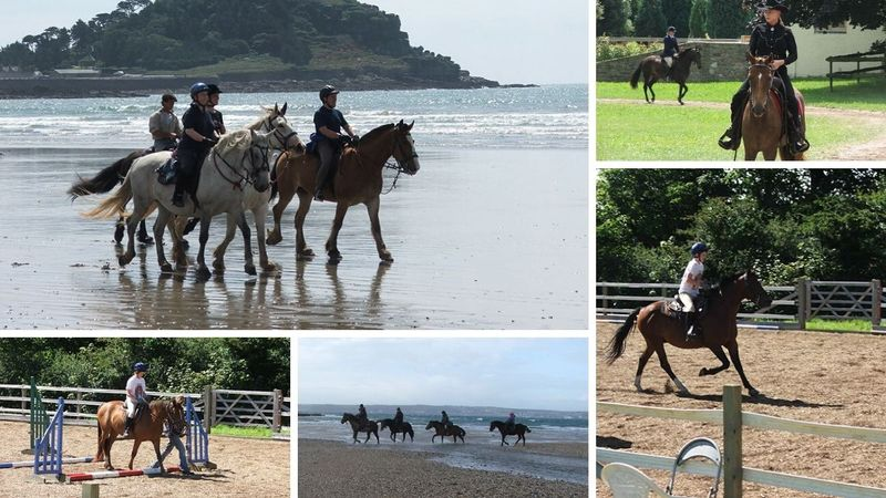 horse riding holiday in cornwall, uk