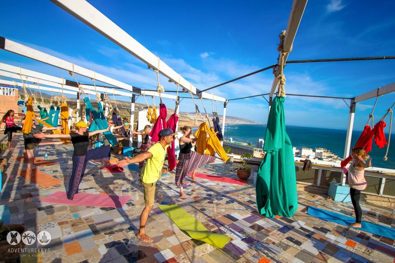 aerial yoga in taghazout morocco