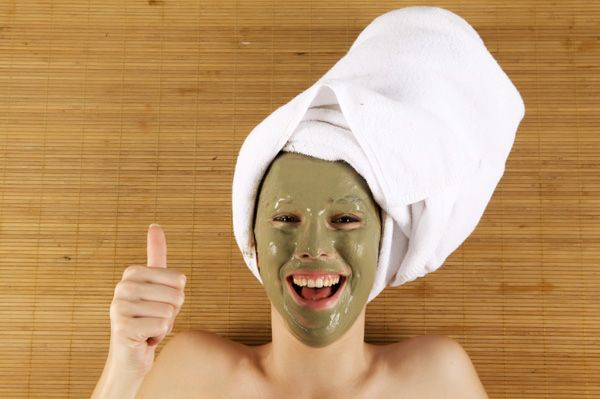 woman with volcanic clay mud mask