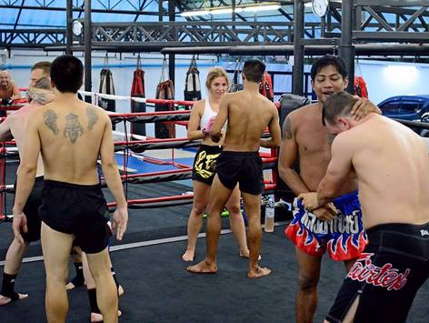 muay thai trainees
