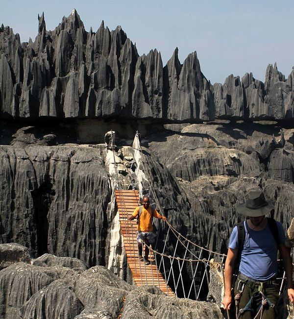 Grand Tsingy suspension bridge