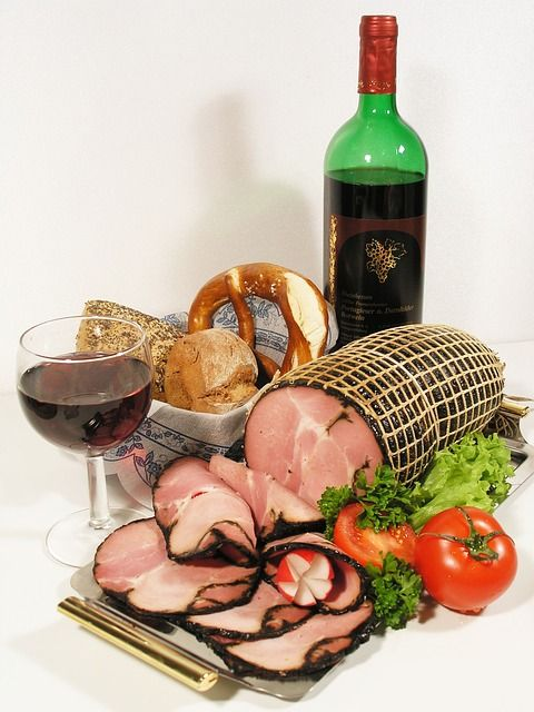 smoked ham and red wine