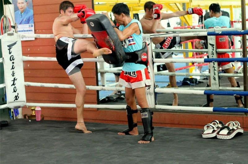 santai gym muay thai training session