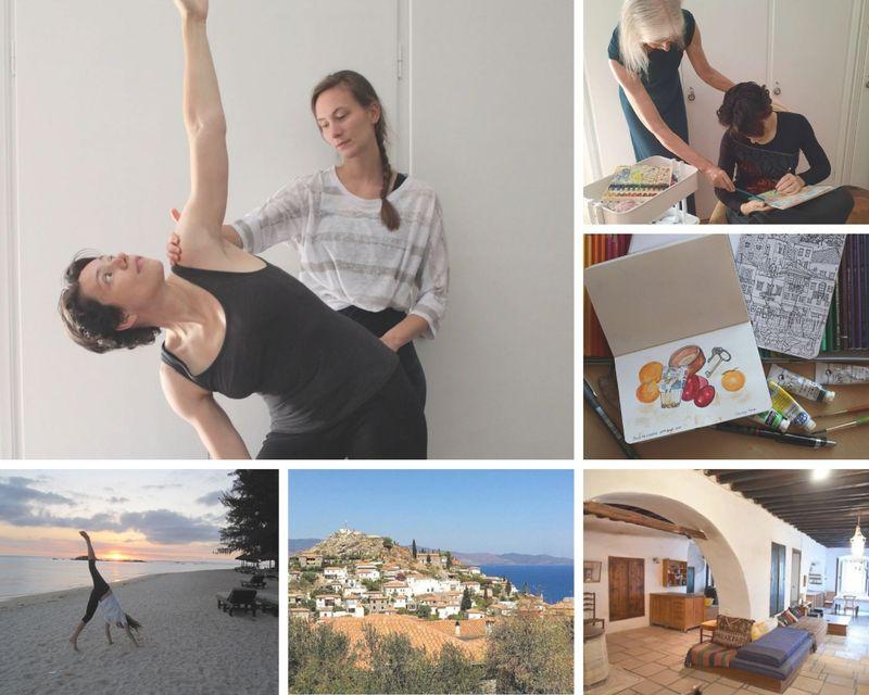 8 Day Creative Art Sketchbook, Meditation, and Yoga Retreat in Hydra Island