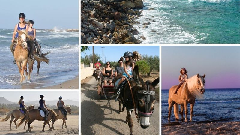 horse riding holiday in crete, greece