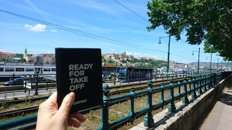 passport cover with a side of Budapest view