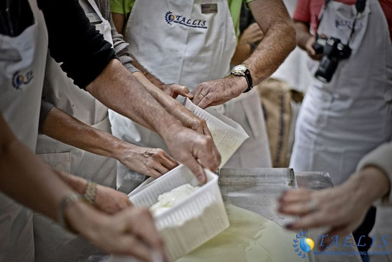 cheese making in crete, greece