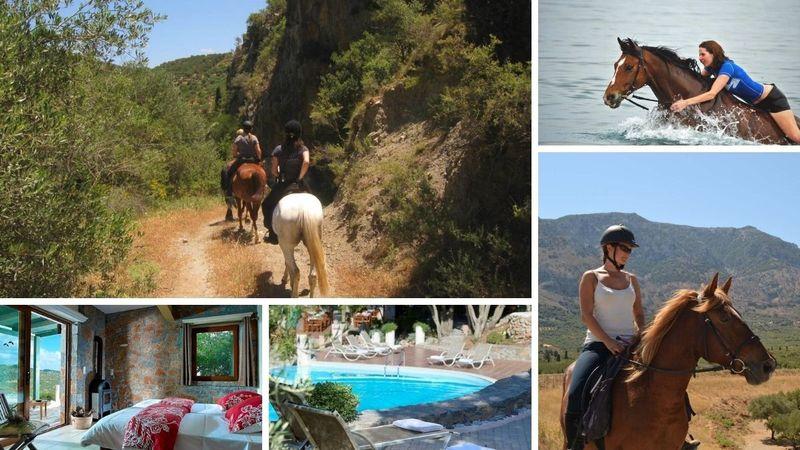 horse riding in Crete, Greece