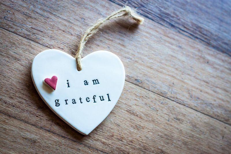 gratitude heart concept photo