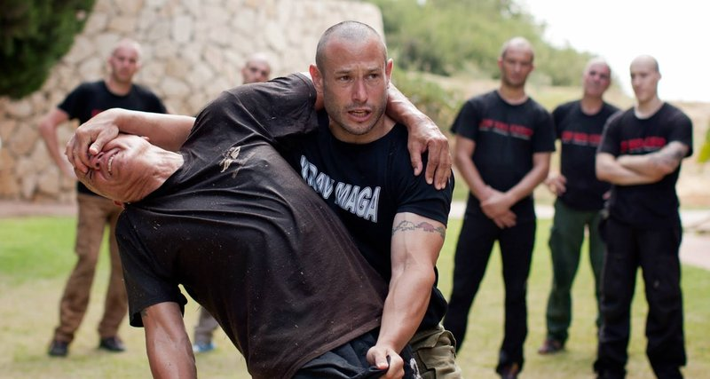 Krav Maga practitioners during training