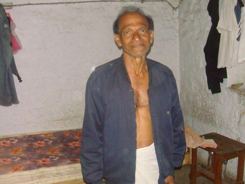 indian yogi man authentic photo