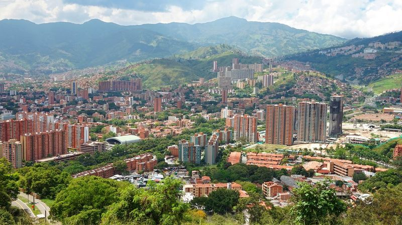 Panoramic view on Medellin