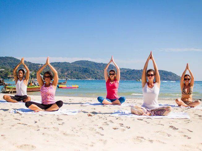 thailand beach yoga