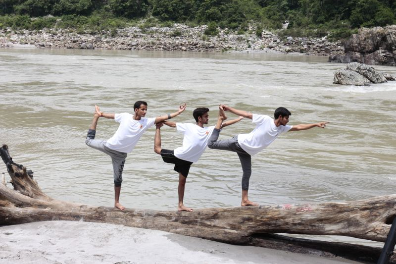 yoga in the ganges