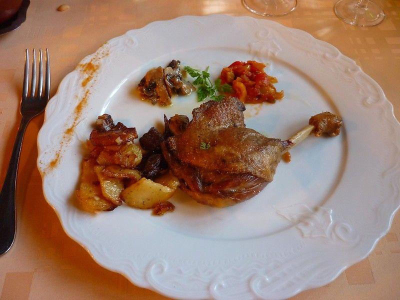 Confit de canard (duck confit) in France
