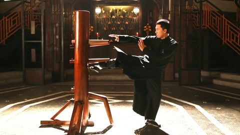 ip man training with wooden dummy