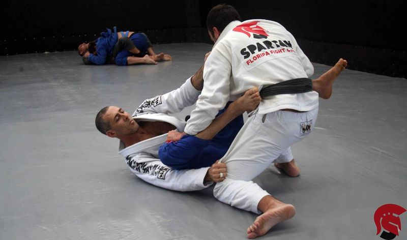 BJJ training in session