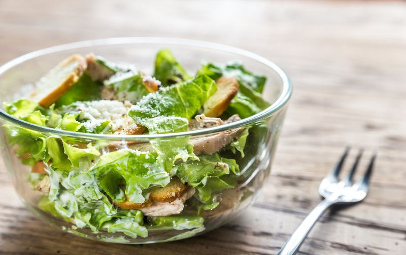 low carb keto caesar salad