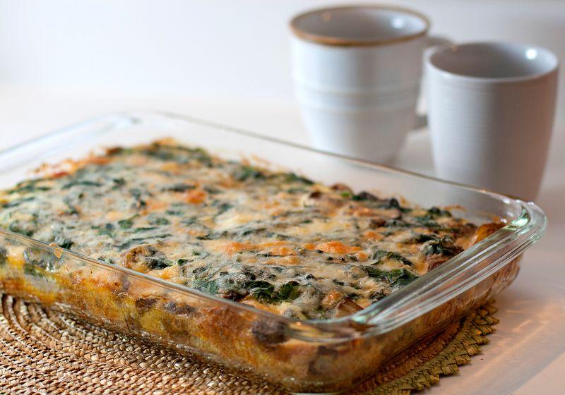 veggie egg casserole
