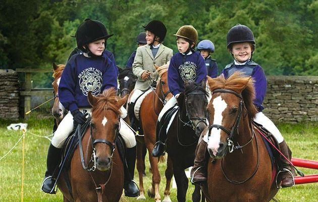 Children on horses